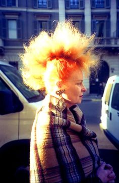 the one and only Dame Vivienne. Vivienne Westwood, God Save The Queen, English Fashion, Advanced Style, Models, Punk Fashion, British Style, Old Women, Business Women