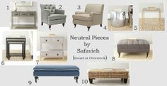 You paid more than me: 10 Neutral Furniture Picks!