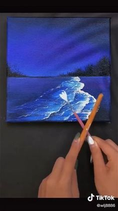 Easy Canvas Art, Simple Canvas Paintings, Small Canvas Art, Mini Canvas Art, Easy Canvas Painting, Painting Art, Canvas Painting Tutorials, Acrylic Art, Watercolor Art