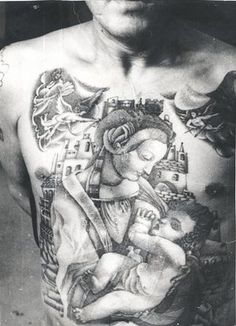 Russian Criminal Tattoo Police Files Russian Criminal Tattoo Police Files The Madonna and Child is a thieves' talisman, acting as a guardian from misfortune and misery. It also means that the bearer has been a thief from an early age: 'A child of prison