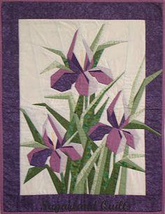 Paper Pieced Iris
