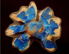 Pregadeira Margarida Azul * Blue Daisy Brooch * Fashion * Jewelry