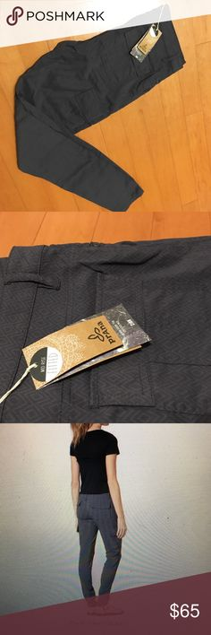 NWT!!! prAna Meme Pants!!! Size 10! Quartz grey NWT prAna Meme Pants! Made from wrinkle resistant, quick drying fabric- perfect for traveling, hiking and every day wear! Slim cargo pockets at side and Sean details at knee. Fitted, mid-rise and skinny leg fit! Prana Pants