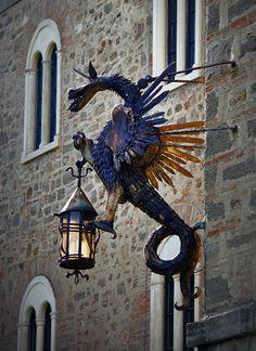 dragon street lamp