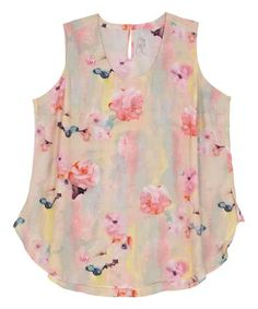 Another great find on #zulily! Winter Sky Floral Sleeveless Top - Plus #zulilyfinds