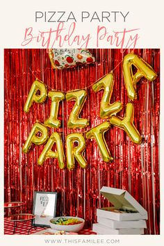 Noah's Pizza Party Birthday - This FamiLee Pizza Party Birthday, Boy Birthday Parties, Birthday Party Decorations, Birthday Gifts, First Birthday Photos, Third Birthday, Italian Themed Parties, Italian Party Themes, Kids Pizza Party
