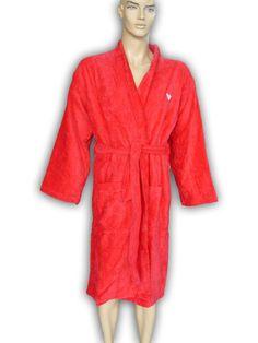 Emporio Armani Red Bathrobe Men's Women's Accappatoio Bath Robe Size: M #EmporioArmani