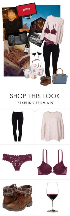 """Netflix & Chill"" by simply-netflix ❤ liked on Polyvore featuring Helmut Lang, Victoria's Secret, Roxy, Riedel and MICHAEL Michael Kors"