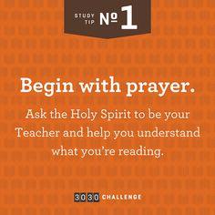 Tip #1: Begin with Prayer