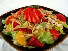 Easy Strawberry-Mandarin #Asian #Salad #Recipe