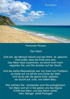 Mensagem - Mar Português - Fernando Pessoa - I. O Infante ( em alemão)