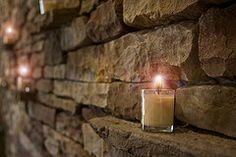 Beautiful use of the wall with candles     #Schumacher Homes #Home #Candles