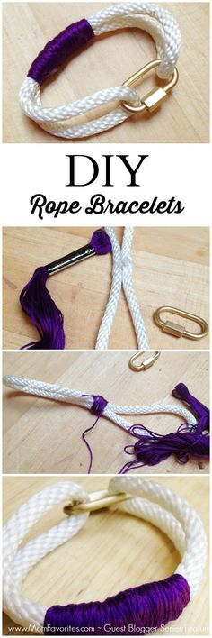 #DIY accessories - Rope Bracelet Craft from @paperandfox! @momfaves