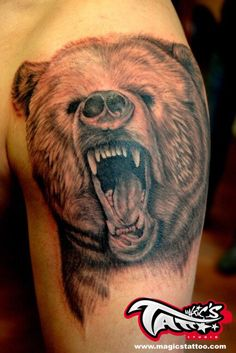 good detail and teeth Body Art Tattoos, Cool Tattoos, Tattoo Inspiration, Ink, Detail, Animals, Teeth, Bears, Tattoo Ideas