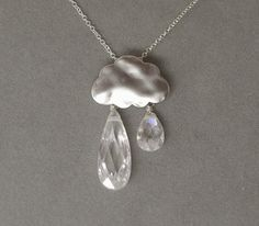 Getting obsessed with raincloud jewelry.