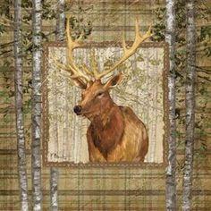 Paul Brent Stretched Canvas Art - Lodge Portrait III - Small 12 x 12 inch Wall Art Decor Size. Canvas Art, Canvas Prints, Art Prints, Fine Art Amerika, Modern Lodge, Thing 1, Lodge Decor, Art Pages, Art For Sale