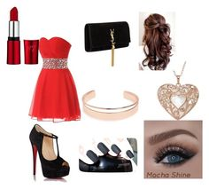 """prom"" by l02000e on Polyvore featuring Yves Saint Laurent, Christian Louboutin and Leith"