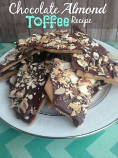 Chocolate Almond Toffee Fall Food Recipe! Easy Recipe for Thanksgiving or Christmas!