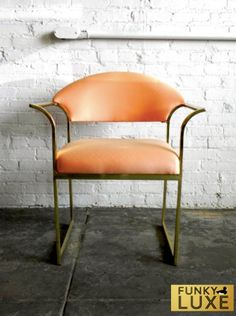 Hollywood Regency Brass Chair by FunkyLuxe on Etsy, $285.00