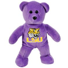 "LSU Tigers 8"" Solid Plush Bear - $6.64"