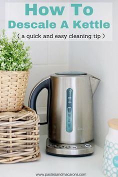 Learn how to descale a kettle with this fast and easy cleaning tip. If you have ever wondered how to clean a kettle with a thick white build up at the bottom of it then this article is for you. using vinegar works wonders. Read on to see how!