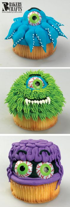 Funny Monster Cupcakes