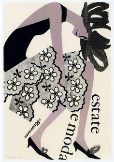 Lora Lamm. 1958 Summer and fashion, la Rinascente.
