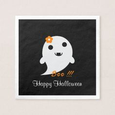 Cute Halloween Ghost Napkin - home gifts ideas decor special unique custom individual customized individualized