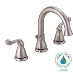 Delta Southlake 8 in. Widespread 2-Handle Bathroom Faucet with Metal Drain Assembly in Brushed Nickel - 35755LF-SS - The Home Depot