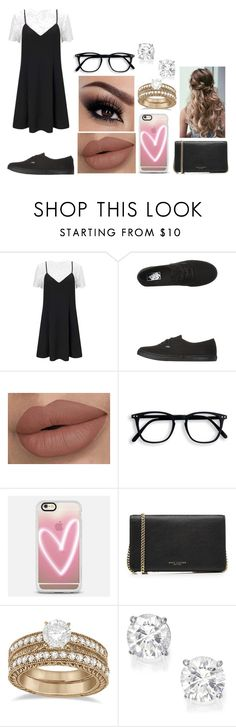 """""""trendy date look"""" by sarahype on Polyvore featuring Miss Selfridge, Vans, Casetify, Marc Jacobs and Allurez"""