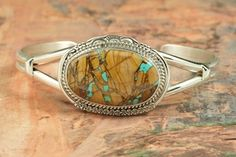 Check out this Beautiful Boulder Turquoise Bracelet at TreasuresoftheSouthwest.com