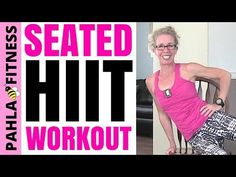 SEATED Sweatfest | 35 Minute Cardio, Strength + Abs HIIT Workout in a CHAIR - YouTube
