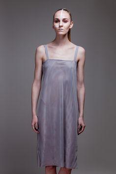 Mesh grey dress