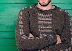 Crochet Men's Sweater: Waldo Sweater by Peter Franzis