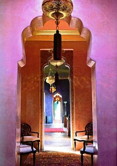 Enchanting Colors of Marrakech & gorgeous hallway...I spent New Year's in this private house two years ago