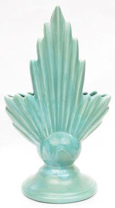 Vintage 1930's Padre Pottery Art Deco Planter # 248 California Art Pottery Green  | eBay Vintage Pottery, Pottery Art, California Art, Art Deco Fashion, 1930s, Decorative Bowls, Planters, Vase, Green
