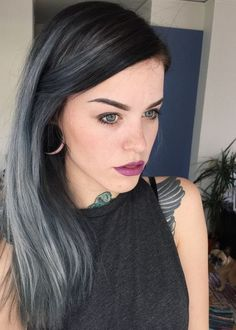 21 Pinterest Looks That Will Convince You to Dye Your Hair Grey | Silver Streaks