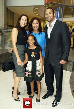 Dwayne Johnson (The Rock), with his former wife Dany Garcia, their daughter Simone, & his mother Ata Maivia Johnson Dwayne Johnson Family, The Rock Dwayne Johnson, Rock Johnson, Dwayne The Rock, Kevin Spacey, Black Celebrities, Celebs, Beautiful Family, Beautiful People