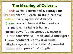 The Meaning of Colors- this explains a little of why my favorite color change while growing up.  But I well always love pink and purple!