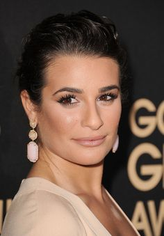 Lea Michele's Got a Lovely Way to Dress up Your Regular Ol' Bun You'll Wanna Copy ASAP: Girls in the Beauty Department
