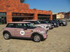 MINI Vehicle Wrap | BuzziSpace upholstered in tartan vehicle wrap #vehiclewrap #MINI #tartan