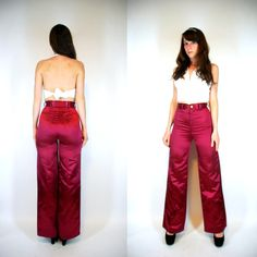 Vintage 70s DISCO dress Pants Shiny High by BluegrassVoodoo, $38.00