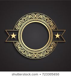 3d golden ornamental label Clothing Boutique Interior, University Logo, Typography, Lettering, Letter Logo, Galaxy Wallpaper, Backdrops, Logo Design, Photoshop