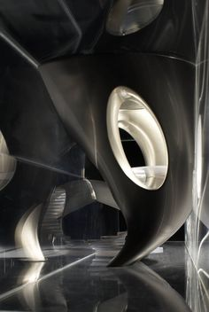 Best Ideas For Architecture and Modern Design : – Picture : – Description Atelier Notify Paris, France 2006 – TBC Crystal Denim SAS Zaha Hadid Architecture, Parametric Architecture, Futuristic Architecture, Amazing Architecture, Architecture Details, Interior Architecture, Chinese Architecture, Interior Design, Philip Johnson