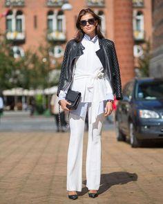 Uma jaqueta de couro é um must-have das fashion girls para deixar um look mais chic.