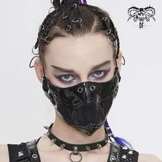"""Brand:DEVIL FASHION Material:SYNTHETIC LEATHER Weight:0.04KG Size:One size(Height:15CM/5.9"""";Width:27CM/10.6"""") Sku:MK04601 Leather Mask, Pu Leather, Satchel, Crossbody Bag, Tote Bag, Women's Accessories, Devil, Vintage Fashion, Punk"""