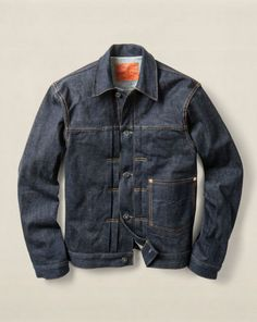 Shop Clothing for Men, Women, Children & Babies Dark Denim Jacket, Denim Top, Mens Fashion Blog, Denim Fashion, Cool Jackets, Men's Wardrobe, Vintage Denim, Jeans Style, Menswear