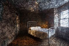 Chiharu Shiota's 'Trace of Memory' reenacts the memories of the house with webs of yarn in Pittsburgh