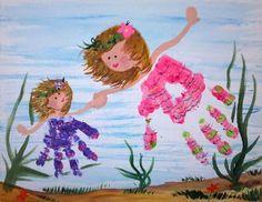 Custom Hand print or Foot print Painting Artwork Keepsakes Momento Art - DIY and Crafts 2019 Baby Crafts, Toddler Crafts, Preschool Crafts, Preschool At Home, Toddler Activities, Hand Kunst, Diy For Kids, Crafts For Kids, Handprint Art