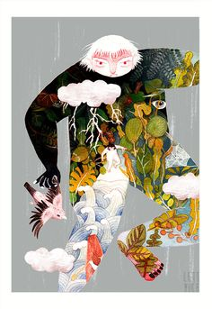 Pinzellades al món: Il·lustracions de Lett Yice: jugant amb la imaginació Kafka On The Shore, Illustrations And Posters, Wallpaper, Anime, Fictional Characters, Book Covers, Separate, Inspiration, Behance
